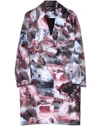 Carven Seascape Printed Satin Coat - Lyst