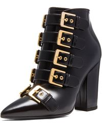 Laurence Dacade Galagher Glossy Leather Booties - Lyst