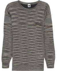M Missoni Silk-Paneled Wool-Blend Sweater - Lyst