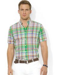 Polo Ralph Lauren Classicfit Shortsleeved Plaid Poplin Sport Shirt - Lyst