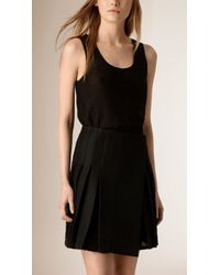 Burberry | Sleeveless Cotton-Lace Top | Lyst