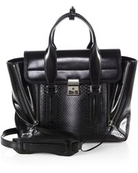 3.1 Phillip Lim Pashli Medium Leather Degradé Python Satchel - Lyst