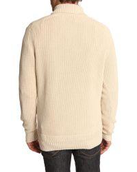 Hackett Multi-Stitch Beige Sweater - Lyst