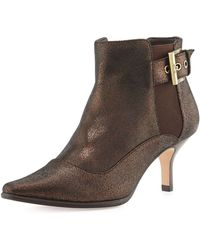 Donald J Pliner Leather Ankle Boot - Lyst