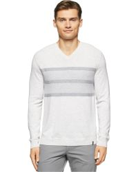 Calvin Klein | Links V-neck Sweater | Lyst