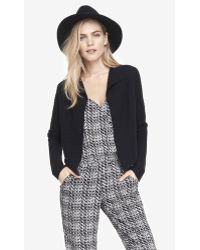 Express Cropped Back Wool Blend Cover Up - Lyst