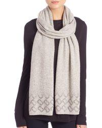 Diane von Furstenberg | Chainlink-embellished Wool & Cashmere Scarf | Lyst