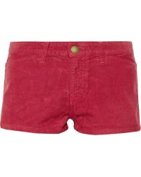 Current/Elliott Charlotte Gainsbourg The Short Corduroy Shorts - Lyst