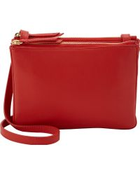 Barneys New York Red Doublepouch Crossbody - Lyst