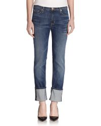 Hudson Muse Cropped Jeans - Lyst
