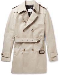 Sandro Double-Breasted Cotton Trench Coat - Lyst