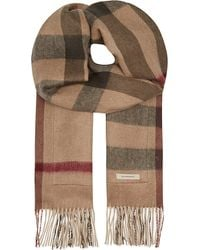 Burberry Stole Solid To Check Scarf - For Women - Lyst