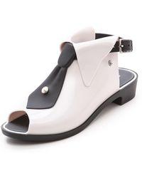 Melissa Karl Lagerfeld Booties Whiteblack - Lyst