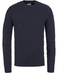 Edwin - Cordovan Navy Marl Standard Fine Stripes Knitted Sweater - Lyst