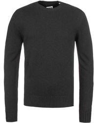 Edwin - Cordovan Black Garment Washed Otokodate Knitted Wool Blend Sweater - Lyst