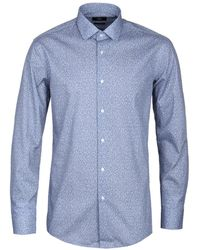 BOSS - Blue Jenno Floral Print Shirt - Lyst