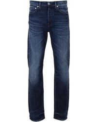 Edwin - Ed-80 Night Blue 11 Oz Contrast Clean Wash Denim Tapered Jeans - Lyst