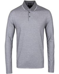6603f815 Lyst - Boss Prall 05 Long Sleeve Polo Shirt in Gray for Men