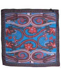 Pretty Green - Cambridge Red & Black Paisley Square Scarf - Lyst