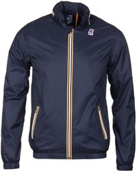 K-Way - Navy Philipe Jacket - Lyst