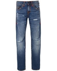 b7c415849 True Religion - Blue Ejdm Worn Ever Fade Ricky Flap Super T Jeans - Lyst