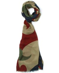 Pretty Green - Riley Red & Green Scarf - Lyst