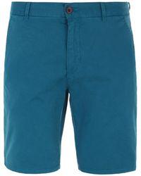 Farah - Hawk Orion Blue Chino Shorts - Lyst