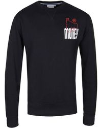 Money - Black Line Warp Ape Crew Crew Neck Sweater - Lyst