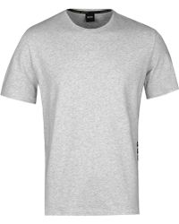 BOSS Black - Light Grey Marl Identity T-shirt - Lyst