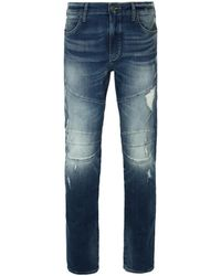 True Religion | Worn Rebellion Blue Geno Biker Jeans | Lyst