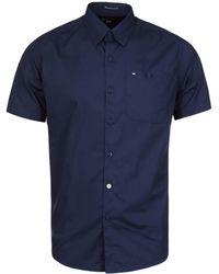 Weekend Offender - Rourou Navy Short Sleeve Shirt - Lyst