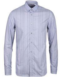 Lacoste - Steel Blue Striped Slim Fit Shirt - Lyst