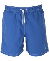 Hackett - Blue Solid Volley Swimshorts - Lyst