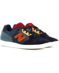 New Balance | Epic Tryp Navy & Orange Made In England Trainers | Lyst