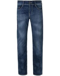 True Religion - Blue Trance Geno On Flap Cable Stitch Slim Fit Jeans - Lyst