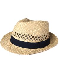 Hackett - London Straw Trilby Hat - Lyst