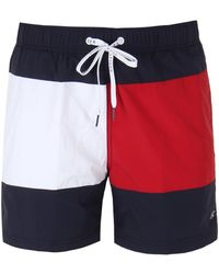 c4cc286e9457 Polo Ralph Lauren Flag-print Swim Shorts for Men - Lyst