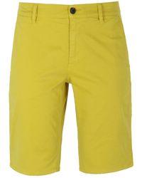 BOSS by Hugo Boss - Banana Yellow Schino Slim Chino Shorts - Lyst