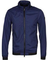 Emporio Armani - Blue Lightweight Textured Jacket - Lyst