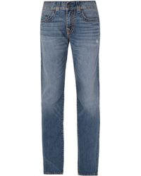 True Religion - Geno Super T Vintage Blue Relaxed Slim Denim Jeans - Lyst