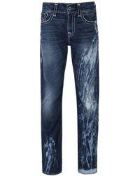 True Religion - La Basin Geno Flap Super T Slim Fit Jeans - Lyst
