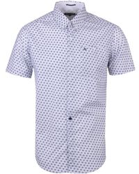 Weekend Offender - Simple Floral White Short Sleeve Shirt - Lyst