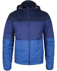 North Sails - Blue Contrast Panel Hooded Zip Up Jacket - Lyst