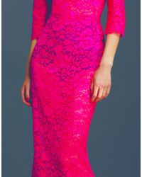 Dolce & Gabbana | Cordonette Lace Gown With Cut Out Back | Lyst