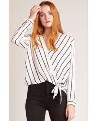 BB Dakota - Friday Night Stripes Top In White - Lyst