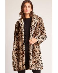 BB Dakota - Bradshaw Leopard Faux Fur Coat - Lyst