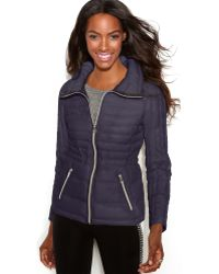 Guess Quilted Packable Puffer - Lyst