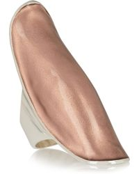 Iam By Ileana Makri - Silver And Rose-Gold Enamel Ring - Lyst