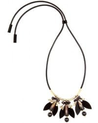 Marni Crystalembellished and Leather Necklace - Lyst