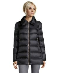 Moncler Black Quilted Torcy Pillow Collar Down Jacket - Lyst